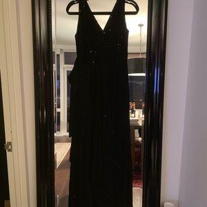 Betsey Johnson Evening Black Sequined Wrap Dress